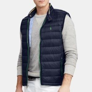 Ralph Lauren Quilted Down Packable Navy Vest NEW
